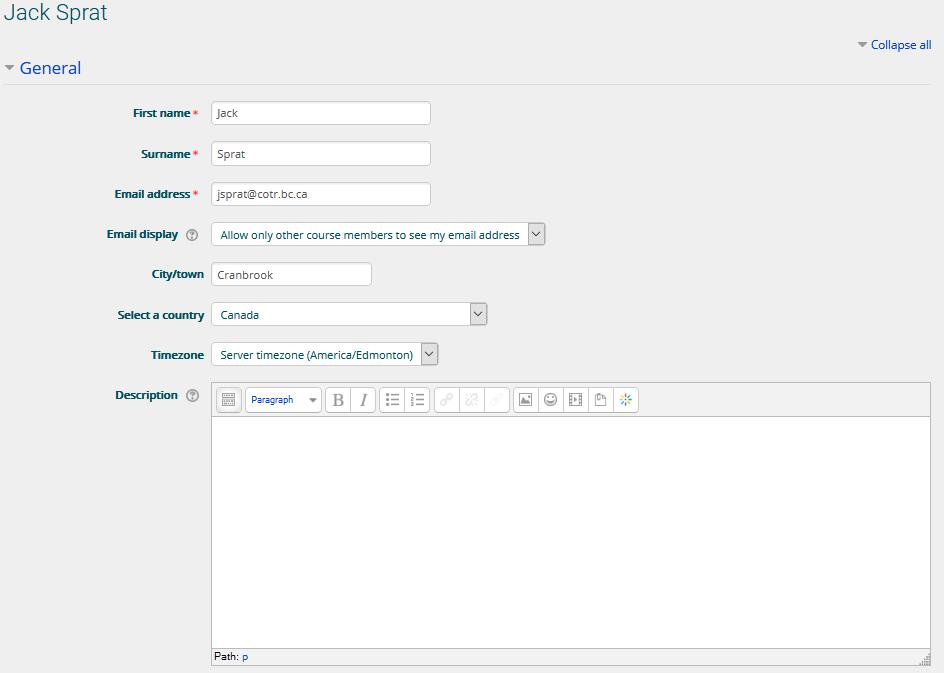 Edit your COTROnline profile