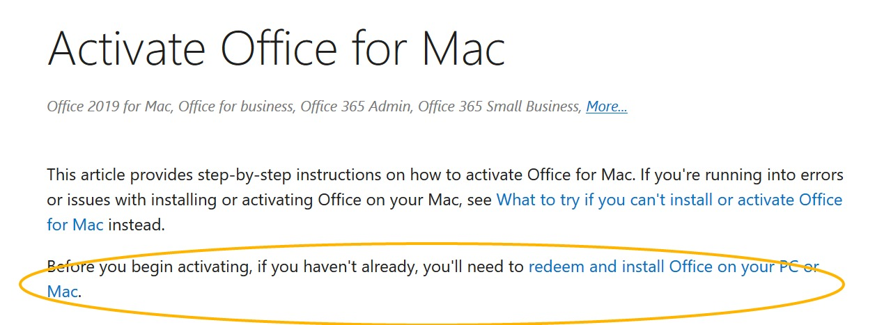 MS Office on MAC