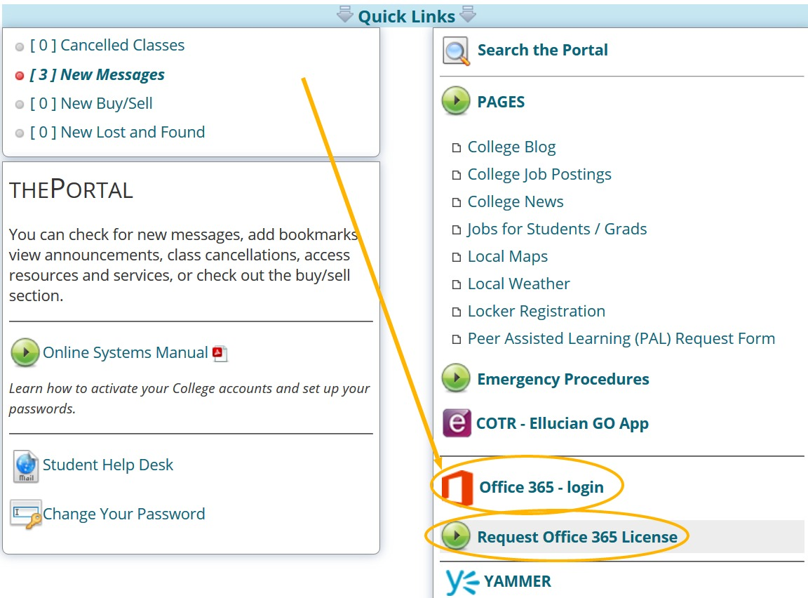 Quick Links - MS Office Install