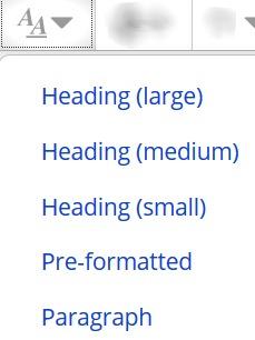 Font size icon & list