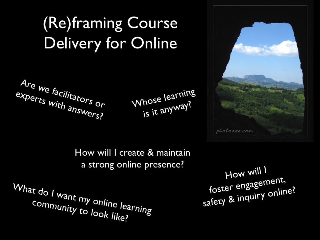 Intro questions for delivery of online courses