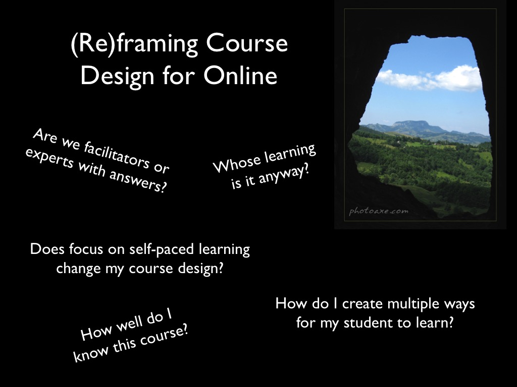 Essential questions for reframing online course design
